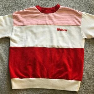 Pink Stripped and Red Forever 21 Crew Neck Sweater